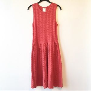 Anthro Far Away From Close Cable Knit Wool Dress